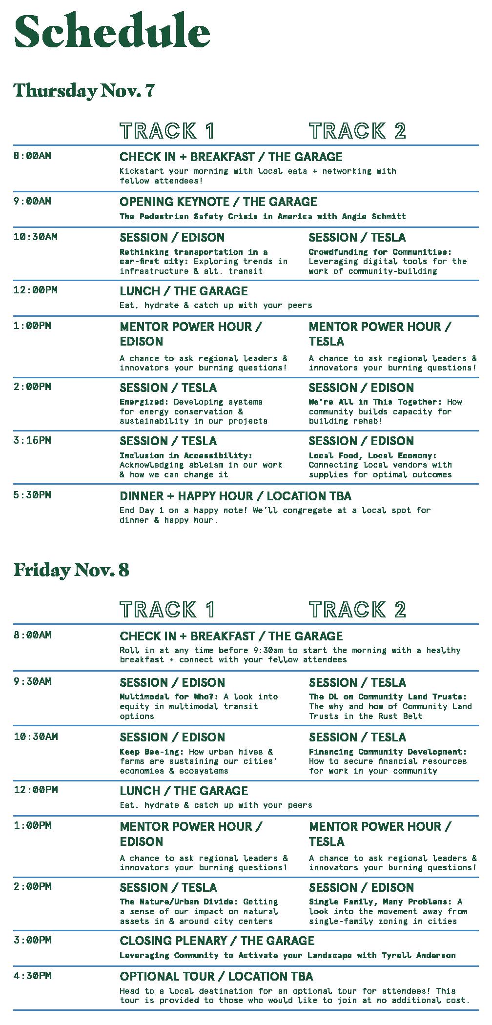 PSDetroit Schedule